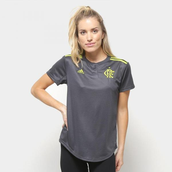 Camisa Flamengo III 19/20 S/nº Torcedor Adidas Feminina