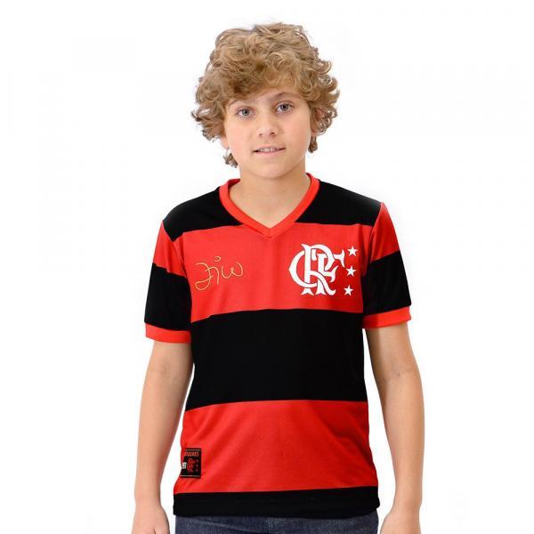 Camisa Flamengo Infantil DRY Zico - Braziline