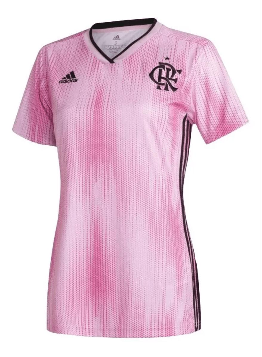 Camisa Flamengo Outubro Rosa 2019 - Feminina / Rosa / P
