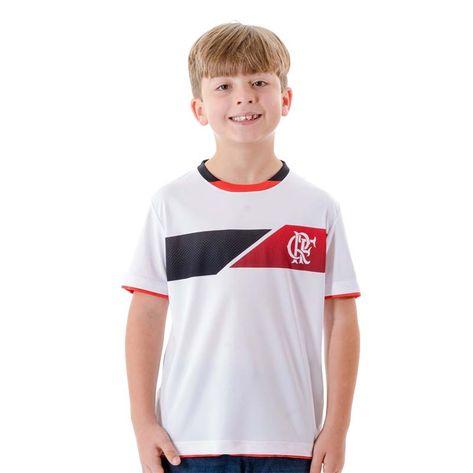 Camisa Infantil Flamengo Fire P - BRANCA