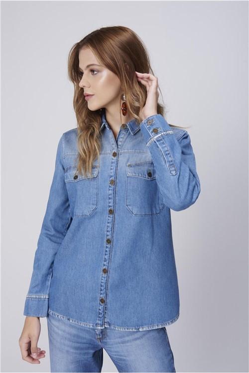 Tudo sobre 'Camisa Jeans com Bolsos Feminina'