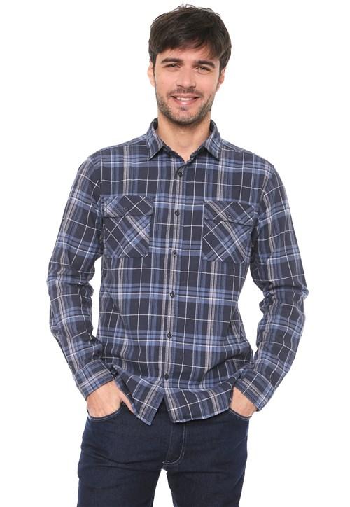 Tudo sobre 'Camisa Malwee Reta Xadrez Azul'