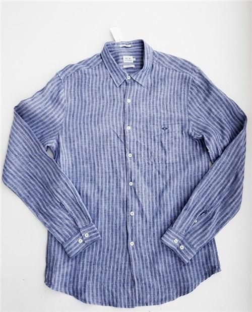 Tudo sobre 'Camisa Masculina Linho Azul Richards (G)'