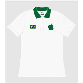 Camisa Pólo Apple Gola Feminina - P - Branca