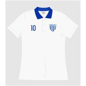 Camisa Pólo Avaí Gola Feminina - P - Branca