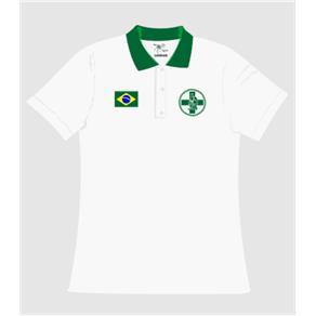 Camisa Pólo Biomedicina Gola Feminina - P - Branca