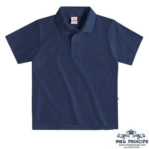 Camisa Pólo Bebê Azul Marinho Manga Curta (M)
