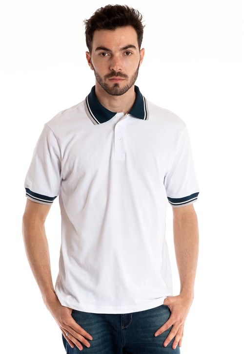 Camisa Polo Konciny Manga Curta Branco