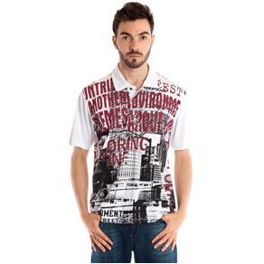 Camisa Polo Manga Curta 31013 - BRANCO - G