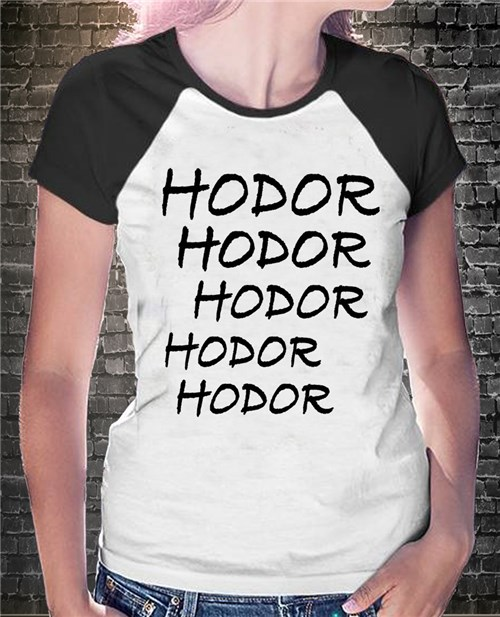 Camisa Raglan - Game Of Thrones / Hodor