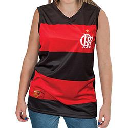 Camisa Regata Braziline Feminina Flamengo Hoop Decote V