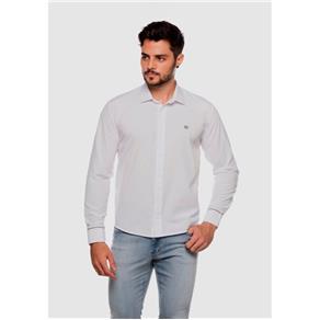 Camisa Social Masculina - 53 - Branco - XG