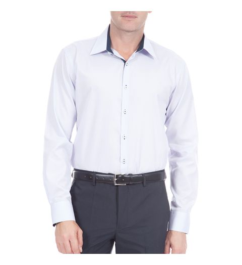 Tudo sobre 'Camisa Social Masculina Lilás Lisa - 5'