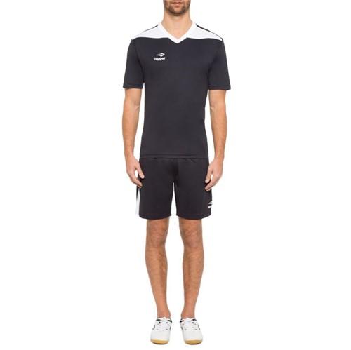 Camisa Topper Futebol Line Preto/Branco - 2
