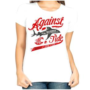 Camiseta Against Feminina Manga Curta - P - Branco