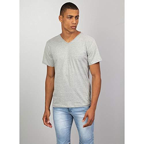 Camiseta Básica Gola V CINZA - P