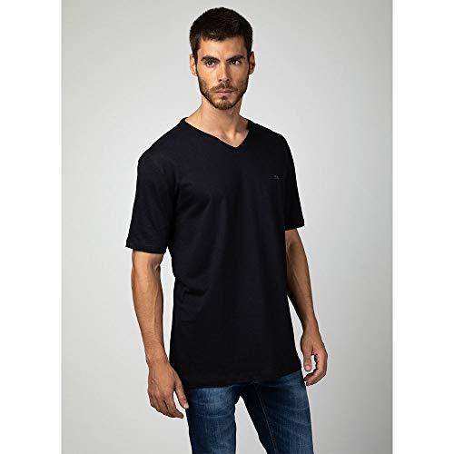 Camiseta Básica Gola V PRETO - GG
