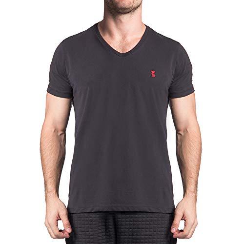 Camiseta Basica Gola V Preto