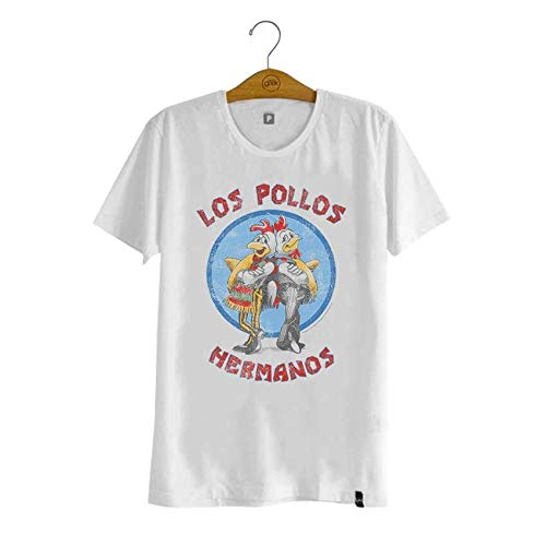 Tudo sobre 'Camiseta Breaking Bad Los Pollos Hermanos Branca'