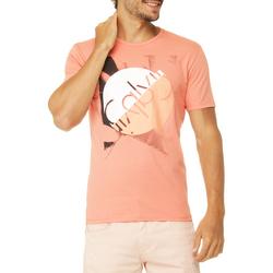 Camiseta Calvin Klein Jeans Estampa Frontal e Logo
