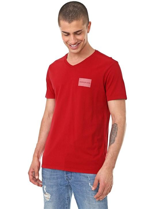 Camiseta Calvin Klein Jeans Logo Vermelha
