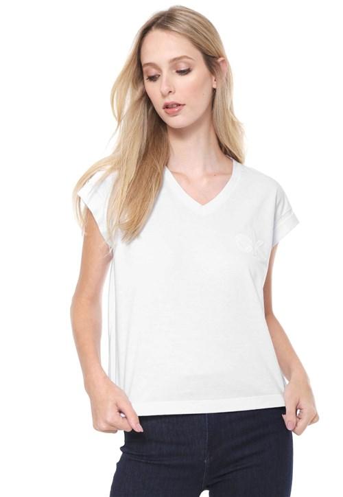 Camiseta Calvin Klein Logo Branca