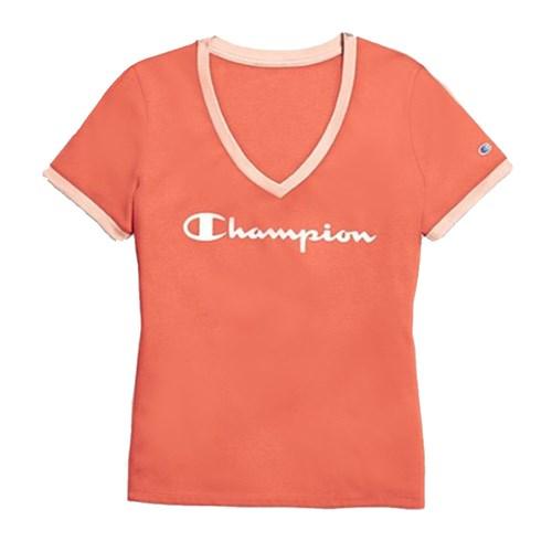 Camiseta Champion Gola V Papaya