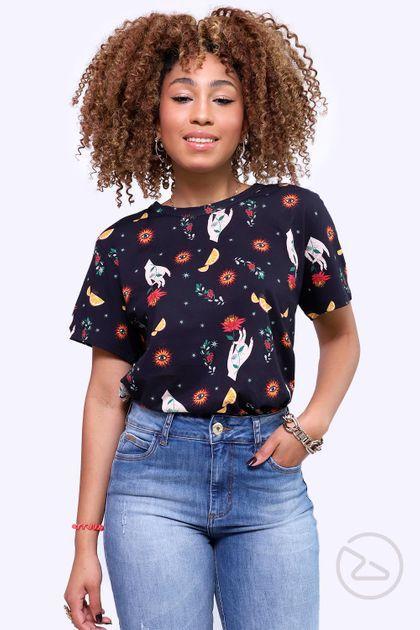 Camiseta Colcci Estampada - Multicolorido
