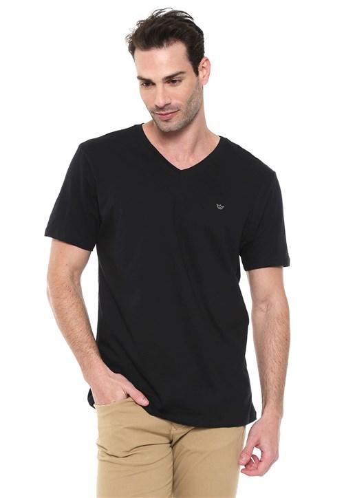 Camiseta Colombo Gola V Preta