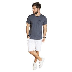 Camiseta com Bolso - Azul Marinho - P