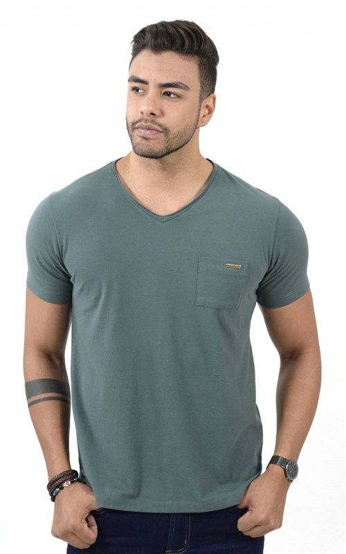 Camiseta Conceito Gola V Green