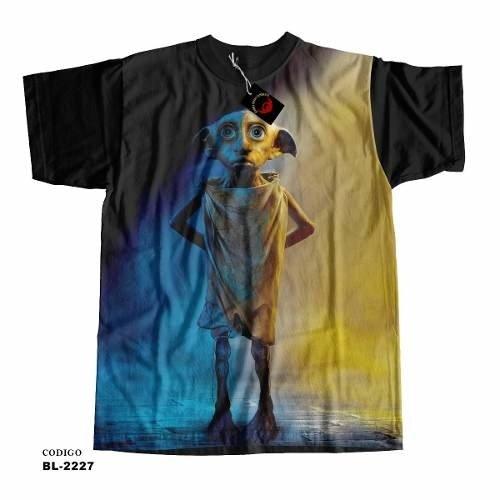 Camiseta Elfo Dobby Harry Potter (Preto, P)