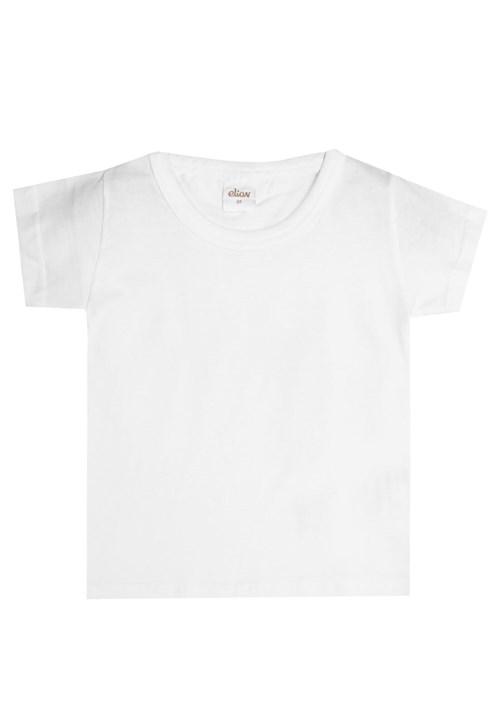 Camiseta Elian Manga Curta Menino Branco