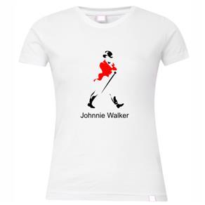 Camiseta Feminina Bebida: Johnnie Walker - P / Branca