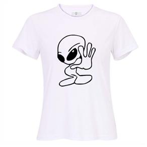 Camiseta Feminina Filme Alien - P - Branca