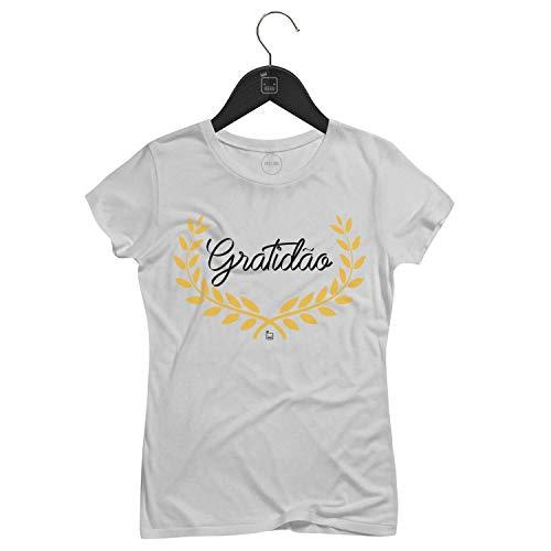 Camiseta Feminina Gratidão   Branca - P