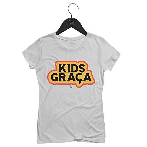 Camiseta Feminina KidsGraça   Branca - P