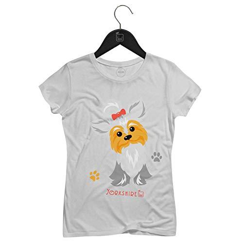 Camiseta Feminina Love Yorkshire   Branca - P