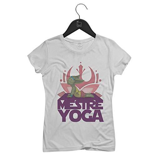 Camiseta Feminina Mestre Yoga   Branca - P