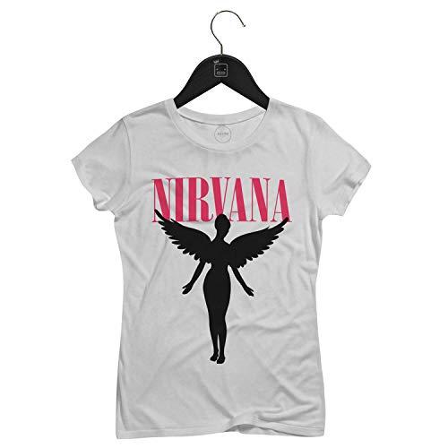 Camiseta Feminina Nirvana   Branca - P