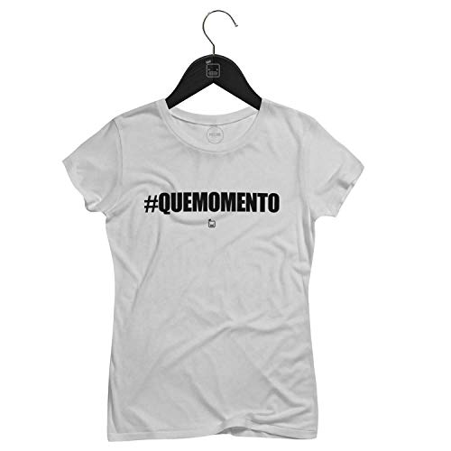 Camiseta Feminina que Momento   Branca - P