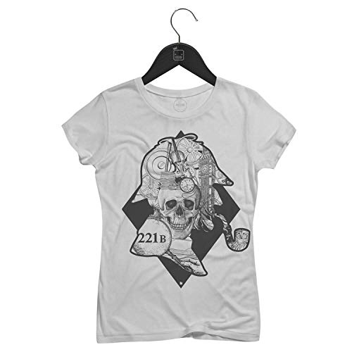 Camiseta Feminina Sherlock Holmes   Branca - P