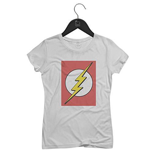 Camiseta Feminina The Flash   Branca - P