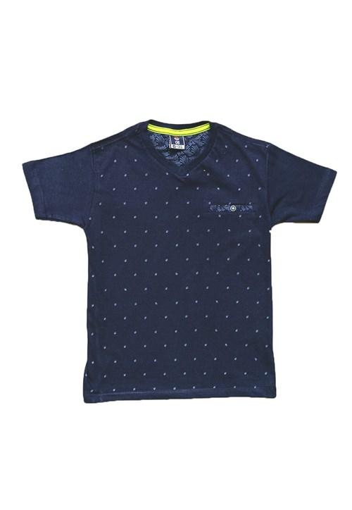 Camiseta - G91 - Camiseta Gola V - Azul Marinho