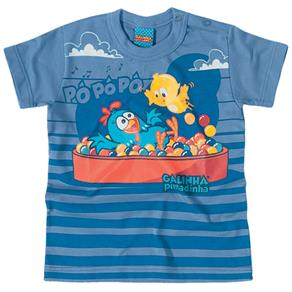 Camiseta Galinha Pintadinha - Malwee - AZUL BEBÊ