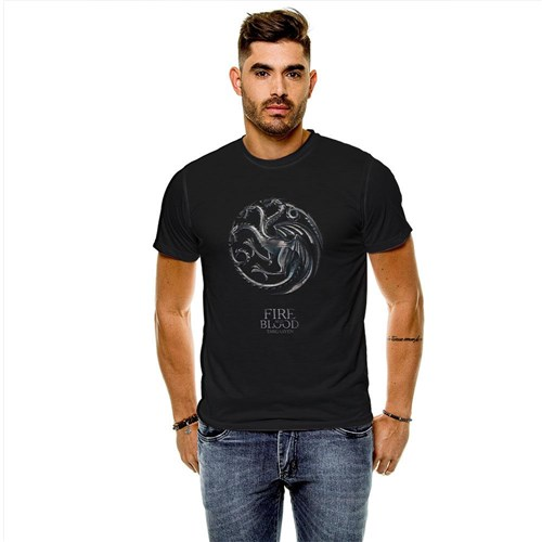 Tudo sobre 'Camiseta Game Of Thrones Casa Targaryen Masculina Slim'