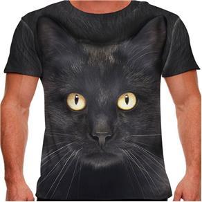 Camiseta Gato Bombaim Masculina PV - P - Preto
