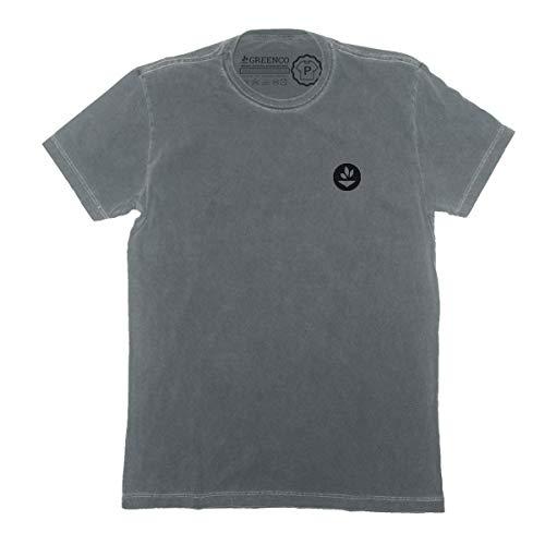 Camiseta Gola C Básica - P Cinza