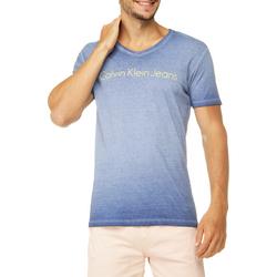Camiseta Gola V Calvin Klein Jeans Estampa Logo