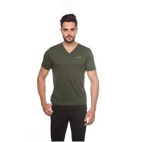 Camiseta Gola V Masculina - 545 - Verde - G
